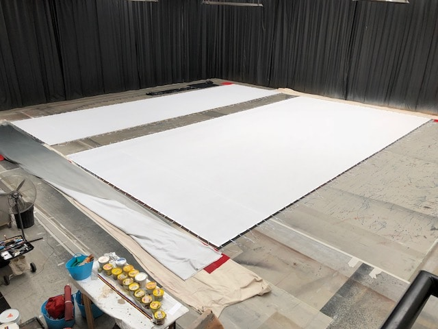 ACM Centre cloth ready to paint 2