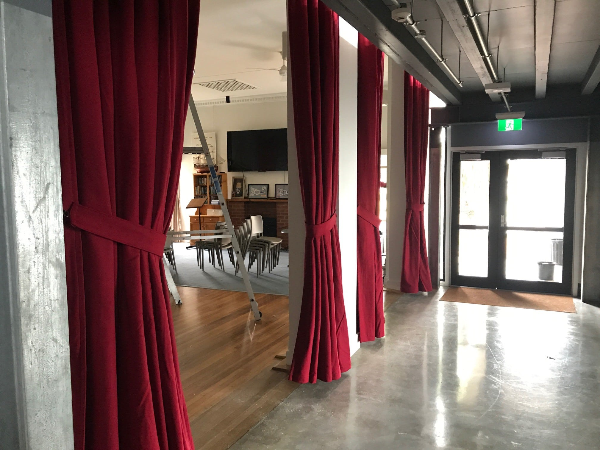 3 layered acoustic wool curtains