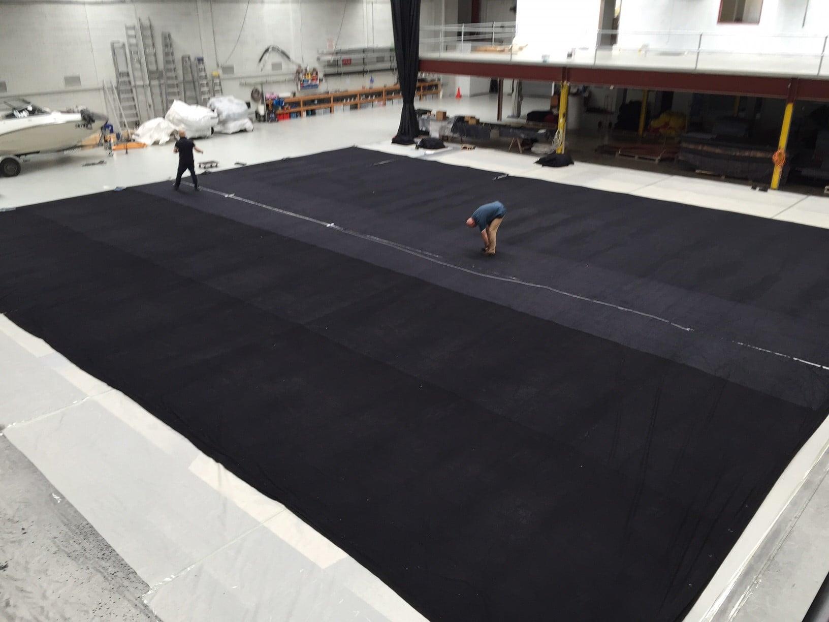 Large circus tent liner Black molton